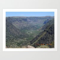 road trip, glacier carved, mountains Art Print