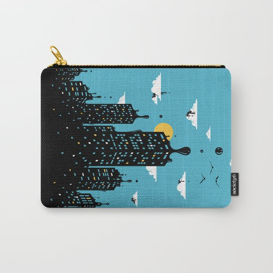Melting Skyline Carry-All Pouch