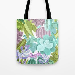 Tropical Cactus Pattern Tote Bag