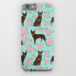 Kelpie florals dog breed cute gifts pattern dog lover pet portraits pet friendly designs iPhone Case