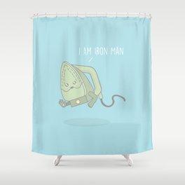 I Am Iron Man #kawaii #ironman Shower Curtain
