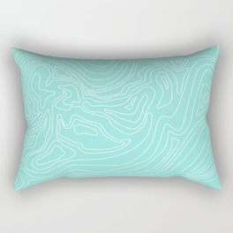 Ocean depth map - turquoise Rectangular Pillow