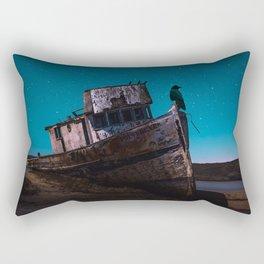 A crow on a boat by GEN Z Rectangular Pillow