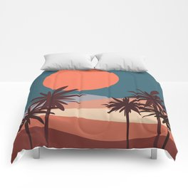 Abstract Landscape 13 Portrait Comforters