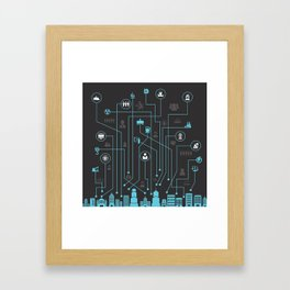 Industry a city Framed Art Print