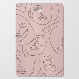 Blush Faces Cutting Board