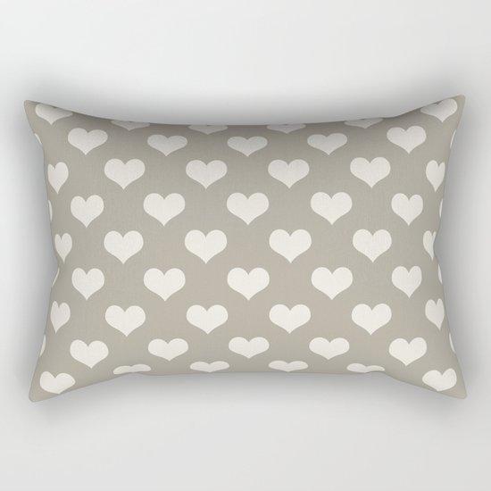 Heart Alabaster Blue Gray Rectangular Pillow