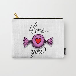 I love you (pink) Carry-All Pouch