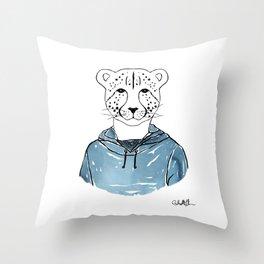 Callie the Cheeta (Color) Throw Pillow
