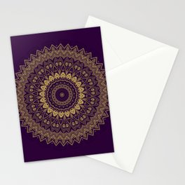 Harmony Circle of Gold on Purple Stationery Cards