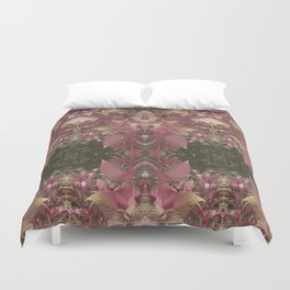 Red Shiso Warm Tones Pattern Duvet Cover