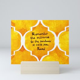 Sanctuary Rumi Mini Art Print