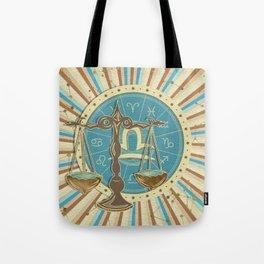 Vintage Libra Zodiac art Tote Bag