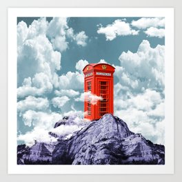 Telephone Box Art Print