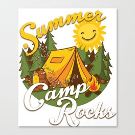 Cute Summer Camp Rocks Camping for Campers Canvas Print