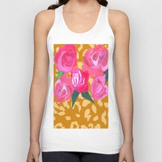 Floral and Tiger Print Unisex Tank Top