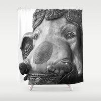 ganesh Shower Curtains featuring Ganesh  by PabloEgM