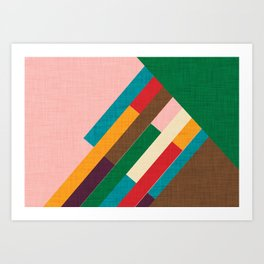 meridian pink Art Print