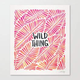 Wild Thing – Pink Ombré & Black Palette Canvas Print