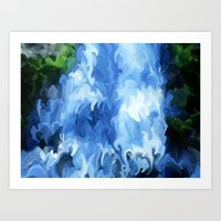 waterfall Art Prints featuring Waterfall by Paul Kimble