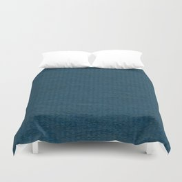 Teal Stripe Paper Pattern Duvet Cover