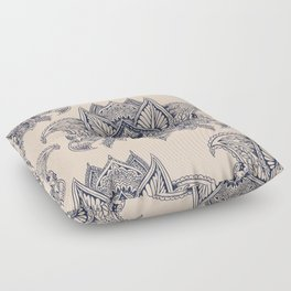Lotus Mandala Pug Floor Pillow