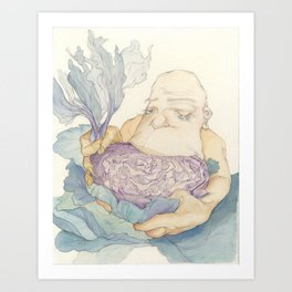 Cabbage Saviour Art Print