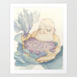 Cabbage Saviour Art Print
