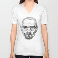 heisenberg V-neck T-shirts featuring Heisenberg by Christina Patti