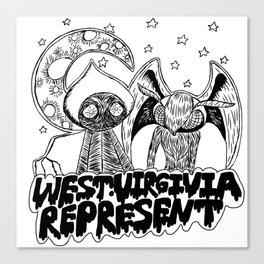 Mothman and Flatwoods: West Virginia Represent Canvas Print
