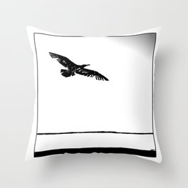 flying into the unknown Throw Pillow