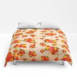 Blush Pink Vintage Floral Comforters