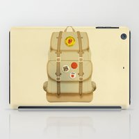 backpack iPad Cases featuring PACK AND GO by Je Suis un Lapin