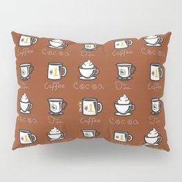 Hot Drinks (Brown) Pillow Sham