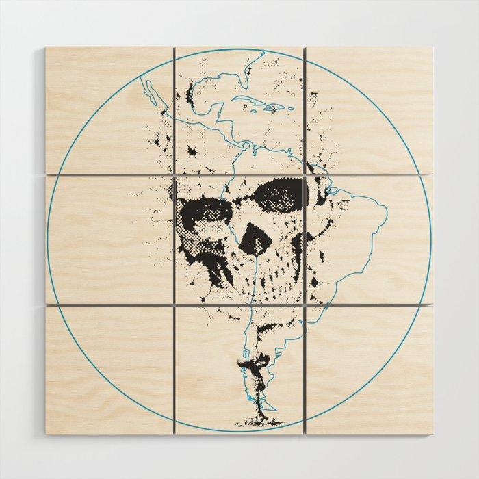 Calavera Proyecto (Skull Project) Wood Wall Art