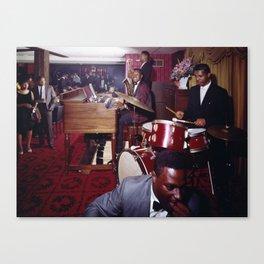 Pitts Motor Inn 1950's Jazz Combo, Washington, DC Retro Jazz Canvas Print