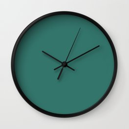 Dunn & Edwards 2019 Trending Colors Imperial Dynasty (Aqua Green, Teal, Turquoise) DE5727 Solid Colo Wall Clock