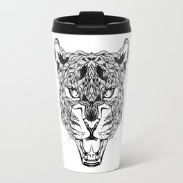 LEOPARD head. psychedelic / zentangle style Travel Mug