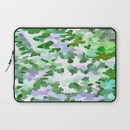 Foliage Abstract In Green and Mauve Laptop Sleeve