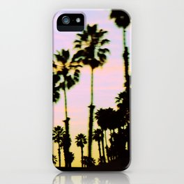 California Dreaming Palm Trees Sunset iPhone Case
