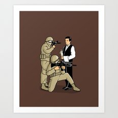 Serving in the Army Art Print