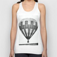 hot air balloon Tank Tops featuring Hot Air Balloon by Rose Etiennette