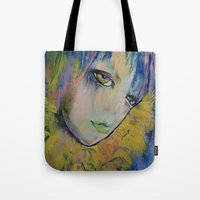 indigo Tote Bags featuring Indigo by Michael Creese