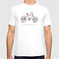 the most badass bicycle ever White MEDIUM Mens Fitted Tee