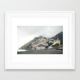 Positano Beach Framed Art Print