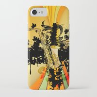 saxophone iPhone & iPod Cases featuring Saxophone by nicky2342