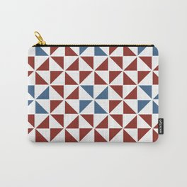 Pinwheel Quilt Pattern in Red and Blue Carry-All Pouch