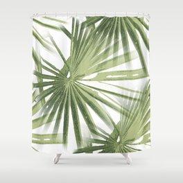 Tropical Beach Palm Vector Shower Curtain