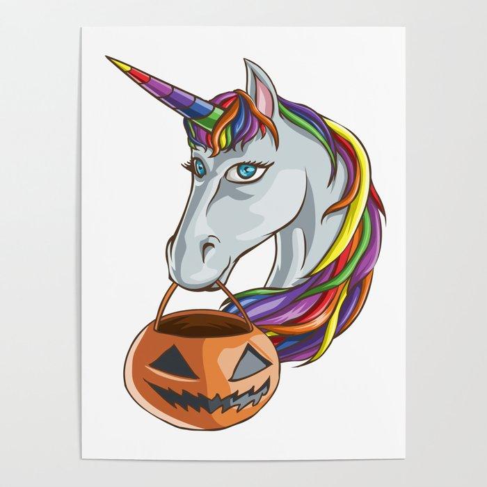 Unicorn Halloween Poster By Merchmojo