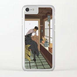 The Mudroom Wolf Clear iPhone Case
